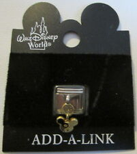 New Mickey Mouse Disney World Stainless Steel Italian Charm  ** FREE SHIPPING