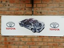 toyota mr2 sw20 mk2 silver pvc large WORK SHOP BANNER garage car show banner