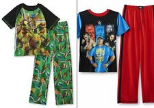 Boys Pajamas Teenage Mutant Ninja Turtle Size 8-10/12 Shirt/Pants Summer M,L NEW