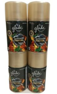 GLADE AUTOMATIC SPRAY REFILLS  AMBER BEATS X 4 CANS