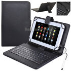 "For Lenovo Tab 2 Tab3 7"" 8"" 10"" Tablet PU Leather USB Keyboard Stand Case Cover"