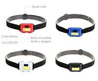 Linterna Cabeza COB LED - Tipo Minero - 3 Modos De Luz - Comoda Y Ligera