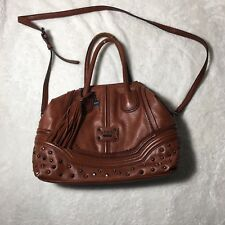GUESS Los Angeles handbag brown studded w/ removable Cross-body strap #A38