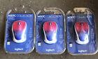 Lot Of (3) Logitech - Design Wireless Mouse M317C, Blue Blush- NEW Sealed