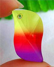 27x14x10mm Colorful Plating Titanium Crystal Facet Free Shape Pendant AP15037
