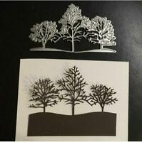Snow Tree landscape Metal Cutting Dies Scrapbooking craft Embossing stencil DIY