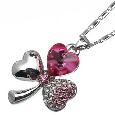 5.10 Ct Heart Cut Style Shape Pink Sapphire CZ 18K White Gold Plated Pendant