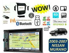 Fits NISSAN MURANO 2003-2007 BLUETOOTH STEREO KIT GPS MP3 USB TOUCHSCREEN DVD