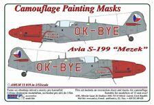 AML M33019 1/32 Avia S-199 Mule Ok-Bye-checo conjunto de masking de policía