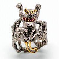 Rhodolite Ring 925 Sterling Silver Size 8 /RA18-0123