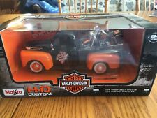 1948 FORD F1 Truck & 1958 HARLEY-DAVIDSON Duo Glide Motorcycle 1/24 Maisto 32180