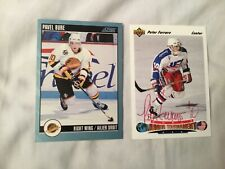 Lot of 2 1992 Upper Deck Peter Ferraro Autographed Usa, 1992 Score Pavel Bure Rc