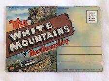 -Souvenir Folder of Postcard Pictures White Mountains of New Hampshire- 1947