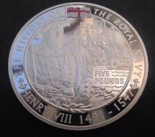 Jersey 2003 Sovereign of the Seas Royal Navy £5 Silver Proof Crown Coin + COA