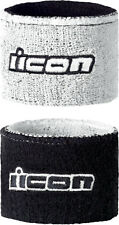 ICON Genuine Motorcycle Brake/Clutch Reservoir Sock/Wristbands (White) One Size