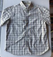 Men's Ecko Unltd Short Sleeve Button Down Plaid Shirt Pre-Owned Size XL