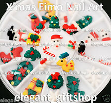 24pcs Christmas Party Nail Art Tips  Decoration Polymer Fimo Clay + Wheel #EF1