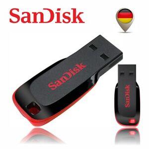 SanDisk Cruzer Blade USB Stick Flash Drive 16GB 32GB 64GB 128GB NEU OVP