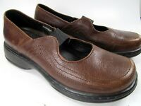 Dansko Distressed Brown Leather Stretch Strap Mary Jane Shoes Size 38 US 7.5-8