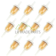 IN-LINE FUEL FILTER X10 UNIVERSAL FIT 6MM & 8MM PIPE, FILTERS SET OF 10