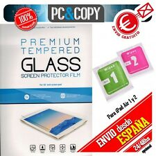 Protector cristal templado para iPad Air 2 A1566 PREMIUM con blister + toallitas