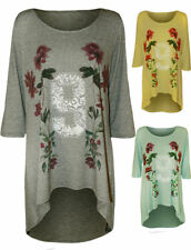 Viscose 3/4 Sleeve Casual Floral Tops & Blouses for Women