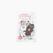 LINE Friends LOVE STICKERS Set Naver Character Decor DIY Accessary Luggage Note