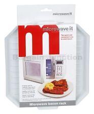 1 X Rack De Microondas que Tocino Bandeja de plástico para verduras cocinar descongelar para microondas