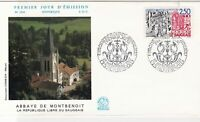 France 1987 Abbey of Montbenoit Pic Slogan Cancels & Stamp FDC Cover Ref 27465