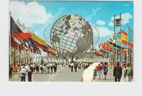 PPC POSTCARD NEW YORK 1964 WORLDS FAIR EXPOSITION UNISPHERE FROM COURT OF NATION