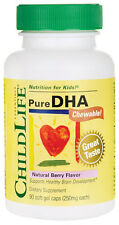 ChildLife Pure DHA Chewable, Natural Berry Flavor, 90 Soft Gel Caps