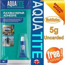 AQUATITE 5G UNCARDED FLEXIBLE REPAIR ADHESIVE GLUE CLEAR TENT WADERS RIPS SHOES