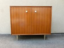 EARLY HERMAN MILLER GEORGE NELSON BCS TWO DOOR WALNUT CABINET