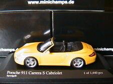 PORSCHE 911 997 CARRERA S CABRIOLET 2005 SPEEDGELB MINICHAMPS 400063031 1/43