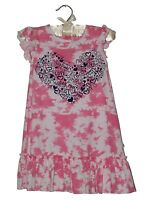 ' Sugar Pink ' Girls Cotton SUMMER dress with heart print 2-3, 3-4, 4-5, 5-6yrs