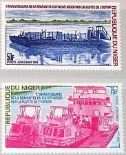 NIGER 1974 414-15 C224-25 1st Ann upstream Voyage Flotilla of Hope Fähre Kahn **