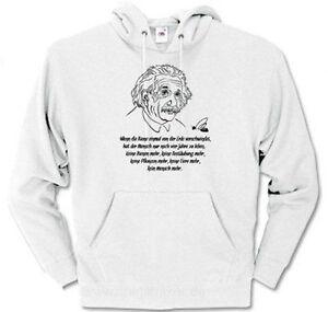 Wenn die Biene  Albert Einstein - Imker Bienen Honig Kapuzen-Sweat-Shirt S - XXL