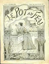 Cuisine-1893 : LE POT-AU-FEU, n°7. Salade de Légumes, Croquettes de Veau...