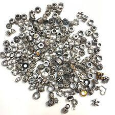Charm Bracelet Spacer Bead Tibetan Style Silver Tone Jewelry Making Rhinestones
