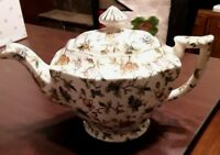 Beautiful MM Japan China Teapot w Floral Design