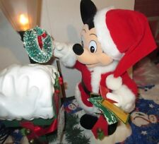 1995 TELCO MICKEY MOUSE MAILBOX SANTA CHRISTMAS ANIMATED MUSICAL