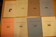 8 Iron Mountain Review Issues 1985-1993 Lee Smith David Huddle Charles Wright
