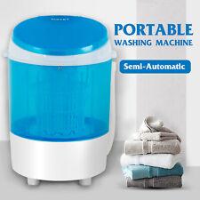 Mini Washing Machine Semi-Automatic Spinner Dryer Portable Laundry Washer Blue