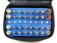 40pcs Universal RF Coaxial Adapter Kit N UHF Mini-UHF BNC TNC SMA RCA F