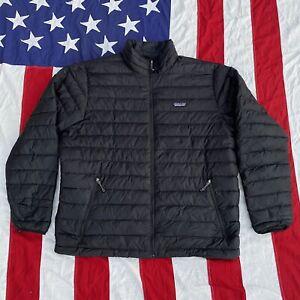 Patagonia Full Zip Collard Puffer Jacket Mens Black Size XL