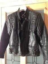"""Vintage années 80 dynamique en cuir noir perfecto-Taille M 38"""" -40"""" rembourré rétro"""