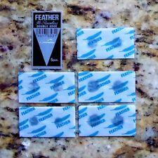 5 Feather Hi Stainless  Steel Double Edge Razor Blades