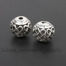 10x Bulk Wholesale 10mm Antique Silver Chinese Knot Hollow Spacer Bead Fit DIY L