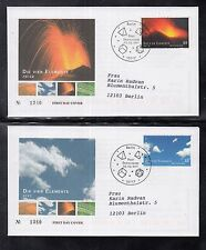 B 5203 ) Germany 2011 The four Elements Earth Water Air Fire of 4 beautiful FDC