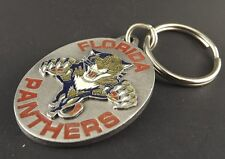 Collectible Solid Pewter Keychain Enameled Florida Panthers NHL Hockey